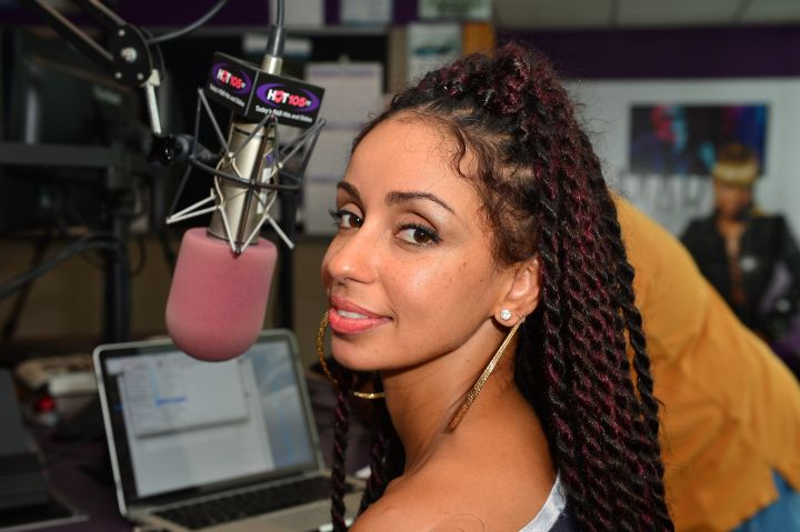 Mýa visits Hot 105 FM and 99 Jamz