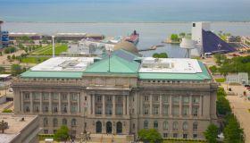 Cleveland city hall near Lake Erie