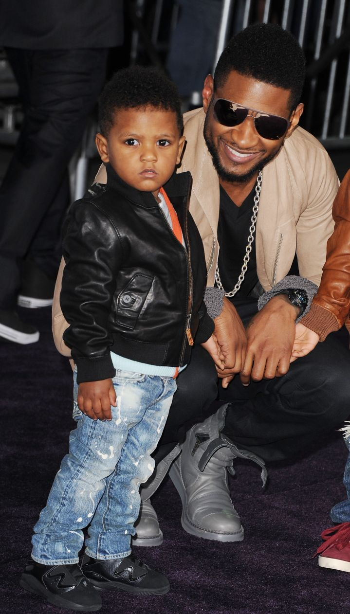 Usher and Son Hit The Red Carpet