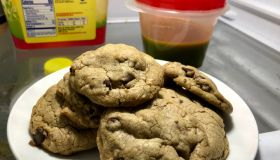 Chocolate chip cookies made with canna butter